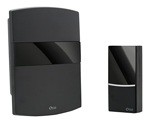 Enexo - 500021/cd - 100-Türklingel, drahtlos, Deko, 100 m, Schwarz