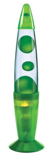 Westminster Translucent 13 Inch Groovy Lamp (Green)