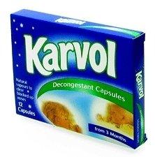 Karvol decongestant capsules 12 pack