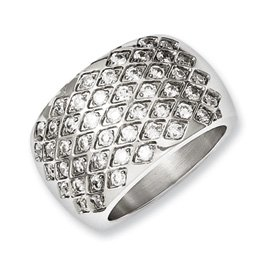 Genuine IceCarats Designer Jewelry Gift Stainless Steel Czs Polished Size 6 Ring Size 6.00