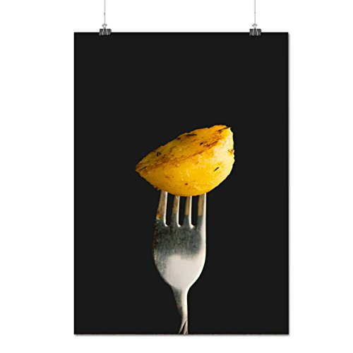 Roast Cooked Potatoe Photography Matte/Glossy Poster A1 (24x33 inches) | Wellcoda (Roast Potatoes Recipe compare prices)