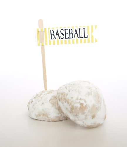 """Baseball"" Food Flag, Yellow (Set Of 12) - Style A Homemade Sweet Like A Rice Krispie Or Truffle front-925066"