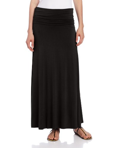 revews three dots s wide fold maxi skirt