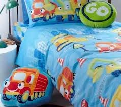 BOYS TRUCKS & DIGGERS COTBED/TODDLER DUVET COVER & PILLOWCASE (120x150cm)