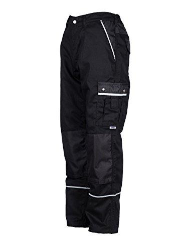 TMG® - Pantaloni da lavoro cargo - tasche per ginocchiere - Qualita Tedesco - uomo - nero (W32 S / EU24)