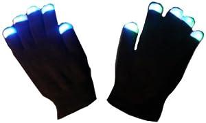 WeGlow International Light Up Multicolor LED Glove - Black