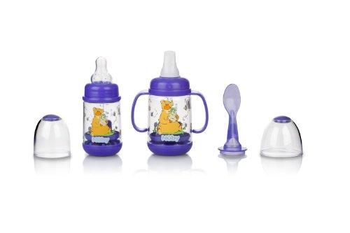 Nuby 2 Pack Nurtur Care Infa Feeder Set, 4 oz Infant Feeder PURPLE