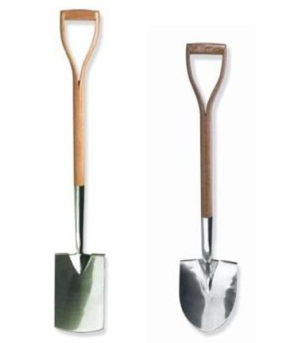 Brook & Hunter Combo-DY-2B-SS Premium 2-Piece Combo Kit With Stainless Steel Alloy Polished Border Shovel & Border Spade With Hand Crafted Red Oak Handles
