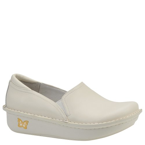 Alegria Women's debra Slip-On,White Napa,38 EU/8-8.5 M US