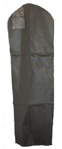 Black Breathable Wedding Dress Gown Garment Bag - Extra Long with 10