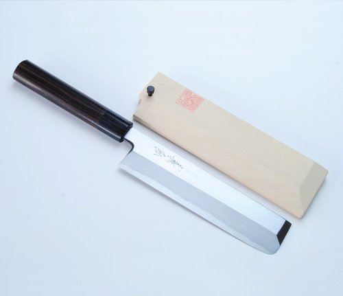 "Yoshihiro Kasumi Edo Usuba Shitan Handle Vegetable Japanese Chef'S Knife 7"" (180Mm)"