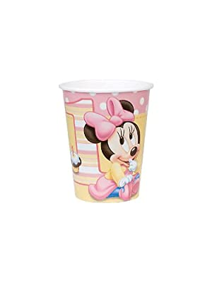 Disney Baby Minnie Mouse Children's 1st Birthday Party Tableware Pack for 16