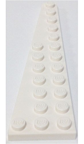 Lego Parts: Wedge, Plate 12 X 3 Left (White)