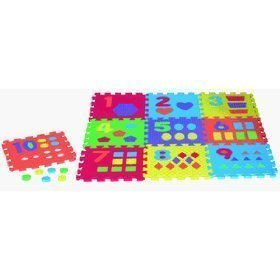 Cheap Verdes Toys 12″ Textured Numbers w/Shapes Foam Play Mat (B000H2AU4W)