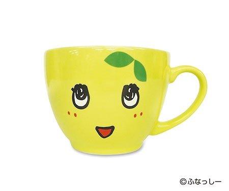 【安心な日本製】船橋市 非公認 ご当地 ゆるキャラ ふなっしー グッズ マグカップ(フェイスマグ)