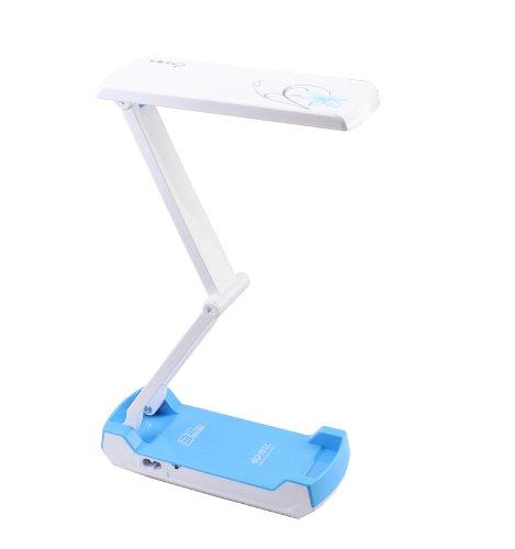 Kms 32 Smd Led Desk Lamp Foldable Rechargable 360 Degree Flexible Blue