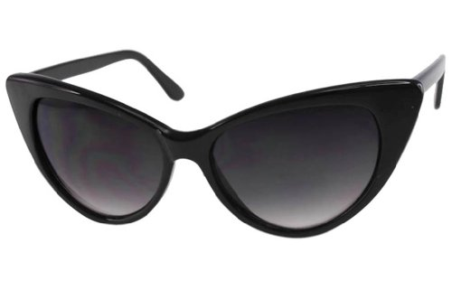 Super Cateyes Vintage Inspired Fashion Mod Chic High Pointed Cat-Eye Sunglasses (Vintage Sunglasses Cateye compare prices)