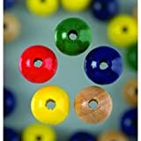 EFCO 4 mm 150-Piece Wooden Beads Hole, Assorted Colours