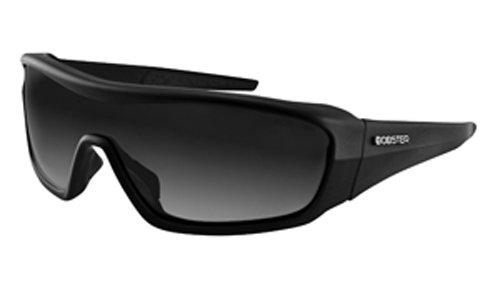 Bobster Enforcer Oversized Sunglasses,Black Frame/Smoke,Clear,Amber Lens,One Size