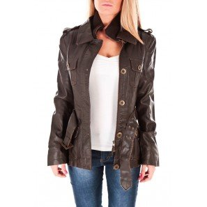 veste simili cuir 2 elles v703 vetement femme taille l couleur marron v tements et. Black Bedroom Furniture Sets. Home Design Ideas