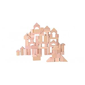 EverEarth Natural Wood Blocks, 80 Pieces