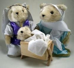 A Christmas Story Teddy Bear Nativity Set Plush Animals (Bear Nativity Set compare prices)