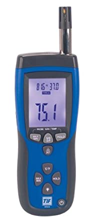 Robinair TIF3110 Infrared Thermometer and Psychrometer with K-Type Thermocouple Input, -50 to 500 degrees C, -58 to 932 degrees F, Accuracy of + or - 2% of Reading, or + or - 2 Degrees C