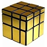 Shengshou 3x3x3 Mirror Speed Cube Puzzle Gold