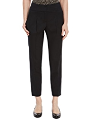 M&S Collection New Wool Rich Pleat Front Trousers