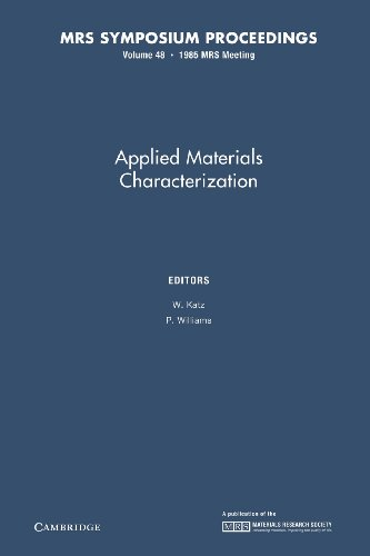 Applied Materials Characterization: Volume 48 (MRS Proceedings)