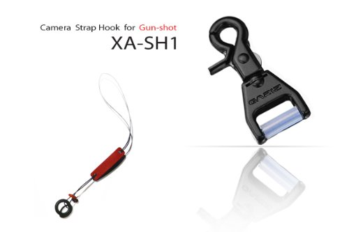 Gariz Metal XA-SH1N Camera Neck Strap Hook for Gun Shot Function for Mirroless Camera, Black