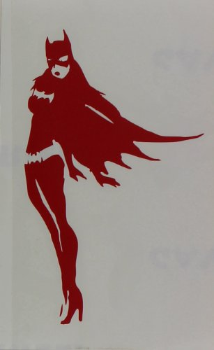 Licenses Products DC Comics Batman Batgirl Rub On Sticker, Red - 1