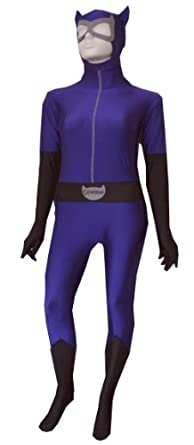 DC Comics Catwoman Costume Zentai Bodysuit Body Stocking for women (Large)