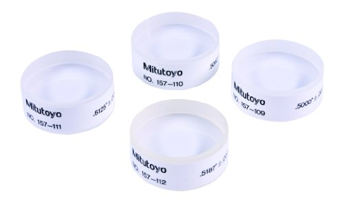 "Mitutoyo 157-901 Optical Parallel, 0.1"" Range, 0.000004"" Flatness, 0.000008"" Parallelism, 1.18"" Diameter"