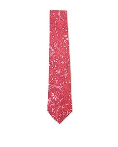 Kiton Men's Paisley Tie, Red/White