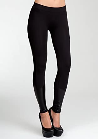 bebe Wet &Knit Legging Related Black-m