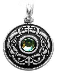 DRAGONEYE LG in argento Sterling 925 germanico Fantasy-simbolo, 30 x 30 mm, Light Green, Sterling 925 argentato, mensola Design