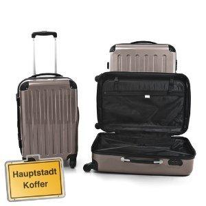 3er Kofferset Hartschale Trolleys titan 130l,87l,45
