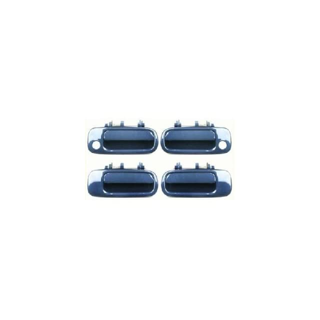 Motorking 6922033011C1 92 96 Toyota Camry Blue 8J6 Replacement Set 4 Outside Door Handles 92 93 94 95 96