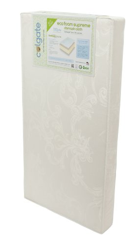 Colgate EcoFoam Supreme - Natural Foam Crib Mattress with Waterproof Cover,Ecru