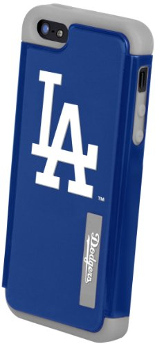 Forever Collectibles Los Angeles Dodgers Rugged Dual Hybrid Apple Iphone 5 & 5S Case