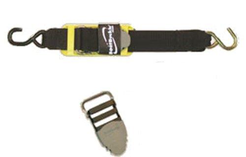 BoatBuckle Pro Series Kwik-Lok Transom Tie-Down (2-Inch x  2-Feet, Black)