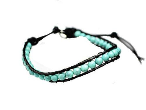 パワーストーン leather bracelet (turquoise)