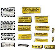 Ih 460 Diesel: Mylar Misc Decal Set -- 17 Pieces