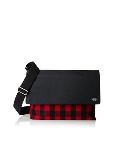 Jack Spade Buffalo Check Computer Field Bag Messenger Bag