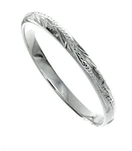 925 Silver Hawaiian Jewelry Floral scroll Ring, 8