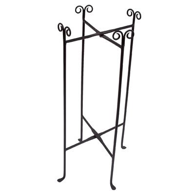 KINDWER Iron Floor Stand for Round Tub, Black