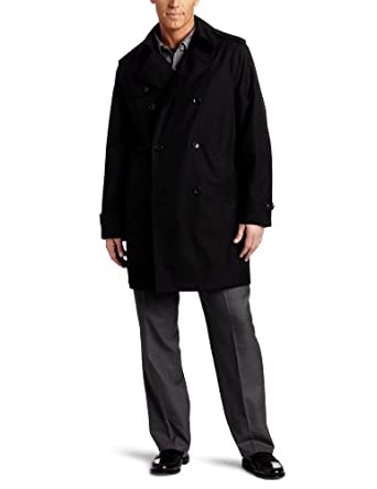 Buy London Fog Mens Charles Double Breasted Trench Coat