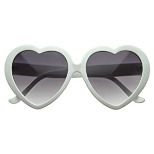 white love heart frames