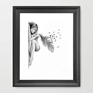 Amazon.com: Society6 - If You Don't Come Back Framed Art Print by